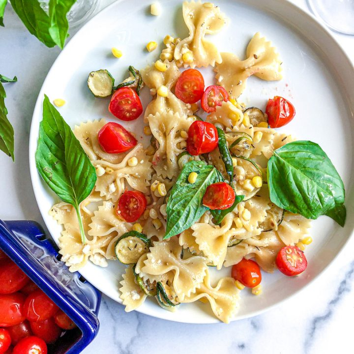 summer vegetables and pasta recipe